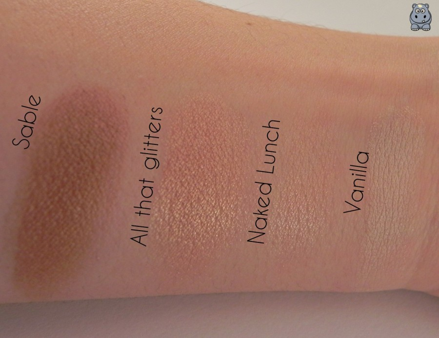 Swatches sombras MAC cosmetics