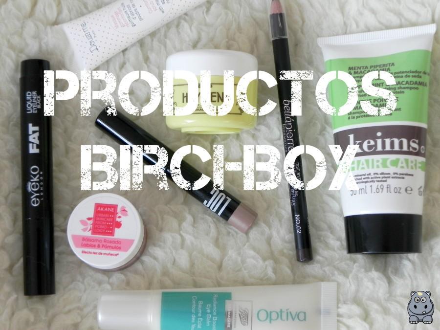 Productos Birchbox